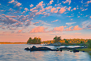 Clouds at sunrise on Lake of the Woods<br />