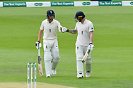 Jos Buttler of England and Ben Stokes of England come back on to the field to bat after lunch during the first day of the 4th SpecSavers International Test Match 2018 match between England and India at the Ageas Bowl, Southampton, United Kingdom on 30 August 2018.
