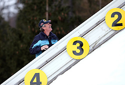 Support man at e.on Ruhrgas FIS World Cup Ski Jumping on K215 ski flying hill, on March 14, 2008 in Planica, Slovenia . (Photo by Vid Ponikvar / Sportal Images)./ Sportida)