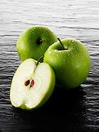 Granny Smith apples stock photos