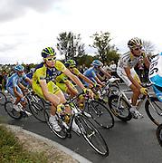 France, VEIGNE , 11 October 2009: Michaël BARRY, TEAM COLUMBIA - HTC (THR), on the Côte de Crochu climb during the Paris Tours cycle race. Photo by Peter Horrell / http://peterhorrell.com...