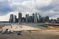 Manhattan Island seen from Brooklyn New York October 2008