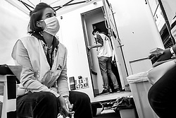 April 20, 2020, Paris, Ile-de-France (region, France: Mobile clinic of the NGO Doctors without borders (DWB). The clinic is installed next to the Aurore association which provides packed lunches to the poor (Credit Image: © Michael Bunel/Le Pictorium Agency via ZUMA Press)