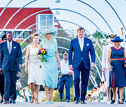 King Willem-Alexander and Queen Maxima on day two of their two-day visit to Curacao on the occasion of Dia di Bandera. 02 Jul 2018 Pictured: King Wilem-Alexander of the Netherlands and Queen Maxima of the Netherlands. Photo credit: MEGA TheMegaAgency.com +1 888 505 6342