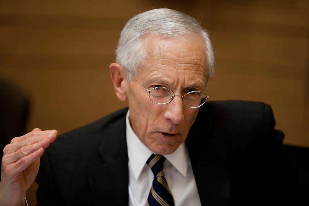 Bank of Israel Governor Prof. Stanley Fischer attends a session of the Finance Committee at the Knesset, Israel's Parliament in Jerusalem, Israel, on May 2, 2012.