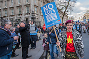 Passion passing Downing street - A march against cuts to and potential privatisation of the NHS starts in Tavistock Square and heads for Parliament Square. The march was organised by the peoples assembly and supported by most major unions and the Labour Party. London  04 Mar 2017