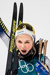 February 13, 2018 - Pyeongchang, SOUTH KOREA - 180213 Stina Nilsson of Sweden celebrates after the women's classic sprint final during day four of the 2018 Winter Olympics on February 13, 2018 in Pyeongchang..Photo: Petter Arvidson / BILDBYRN / kod PA / 57999_288 (Credit Image: © Petter Arvidson/Bildbyran via ZUMA Press)
