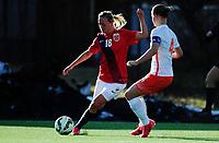 Fotball<br /> Privatlandskamp kvinner<br /> Norge v Nederland<br /> 08.04.2015<br /> Foto: Ole Walter Sundlo/Digitalsport<br /> <br /> Kristine Minde (18) - Norge
