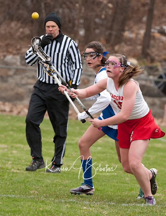 girls varsity lacrosse Laconia versus Gilford April 19, 2011