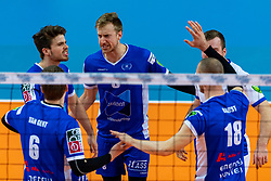 17-02-2019 NED: National Cupfinal Draisma Dynamo - Abiant Lycurgus, Zwolle<br /> Dynamo surprises national champion Lycurgus in cup final and beats them 3-1 / Sam Gortzak #1 of Lycurgus , Chris Voth #8 of Lycurgus