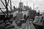 1963 - Loading M.V. Hardenberg at North Wall, Dublin