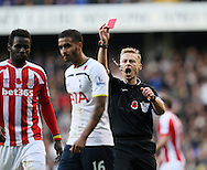 Tottenham's Kyle Naughton gets sent off<br /> <br /> - Barclays Premier League - Tottenham Hotspur vs Stoke City- White Hart Lane - London - England - 9th November 2014  - Picture David Klein/Sportimage