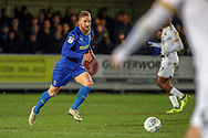 AFC Wimbledon midfielder Scott Wagstaff (7) dribbling during the EFL Sky Bet League 1 match between AFC Wimbledon and Peterborough United at the Cherry Red Records Stadium, Kingston, England on 12 March 2019.