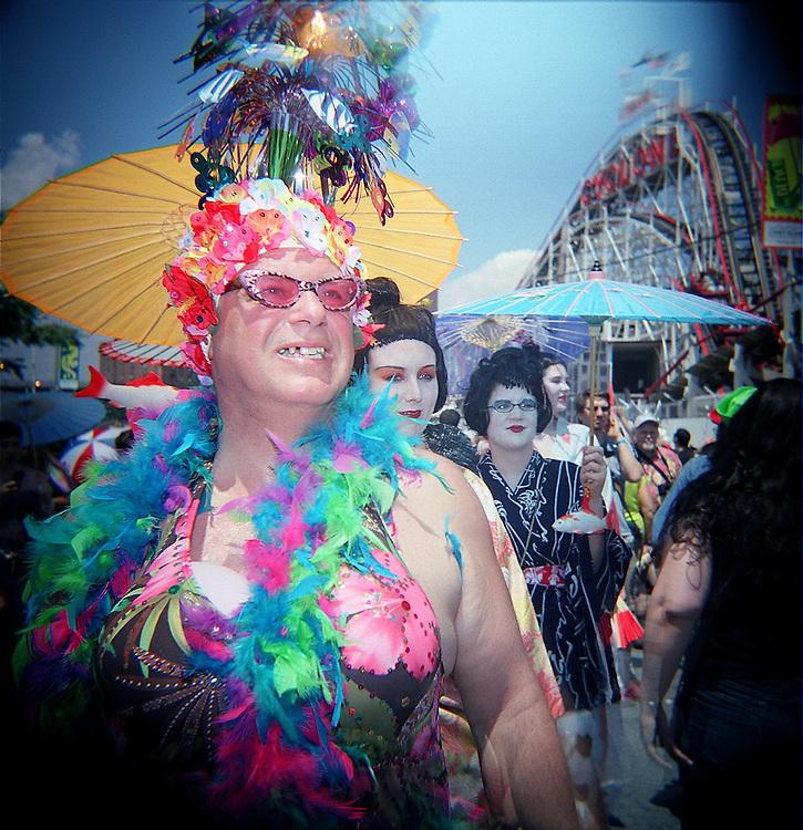 Parasols, Mermaid Parade, Coney Island, Brooklyn, 2008
