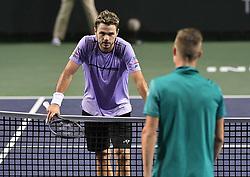 March 10, 2019 - Palm Desert, California, Usa - Tennis : BNP Paribas Open 2019 -  Marton Fucsovics - Hongrie - Stan Wawrinka - Suisse (Credit Image: © Panoramic via ZUMA Press)