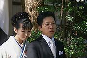 Japan, Tokyo, Meiji Shinto Shrine Traditional Shinto Wedding