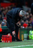 Football - 2018 / 2019 Premier League - Manchester United vs. Fulham<br /> <br /> Jose Mourinho manager of Manchester United washes his shoes at Old Trafford.<br /> <br /> COLORSPORT/LYNNE CAMERON