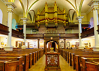 """Holy Trinity Cathedral, haunted church? <br /> Designed by military officers William Robe and William Hall and built between 1800 and 1804, it was consecrated on August 28, 1804.<br /> Maybe it's a haunted church...<br /> The organ would sometimes play music without anyone sitting there and the ghost of a woman sometimes appears near the altar. It is said that during her visit in 1987, Queen Elizabeth II herself saw a specter of a woman near the organ, looking down the railing. Legend has it that it was the ghost of a nun named Iris Dillas, who died in 1830 after being buried ... alive.<br /> <br /> Algonquian people had originally named the area Kébec, meaning """"where the river narrows"""", because the Saint Lawrence River narrows proximate to the promontory of Quebec and its Cape Diamant. <br /> Explorer Samuel de Champlain founded a French settlement here in 1608, and adopted the Algonguin language term. Quebec City is one of the oldest European cities in North America. <br /> The ramparts surrounding Old Quebec are the only fortified city walls remaining in the Americas north of Mexico. <br /> This area was declared a World Heritage Site by UNESCO in 1985 as the """"Historic District of Old Québec""""."""