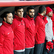 Turkey's players during their UEFA Euro 2016 qualification Group A soccer match Turkey betwen Kazakhstan at AliSamiYen Arena in Istanbul November 16, 2014. Photo by Kurtulus YILMAZ/TURKPIX
