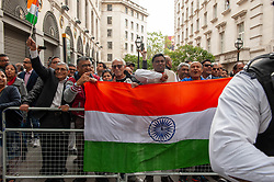 Pro India counter demonstrators also turned out with a small demonstration.<br /> <br /> <br /> Police worked to keep the protesters and counter protesters apart through use of barriers, mounted police and lines of police. <br /> <br /> Richard Hancox | EEm 15082019