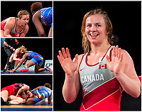 OTTAWA - MARCH 14: Canadian wrestler Erica Wiebe competes in the 76kg division of the Pan-American Olympic Qualification tournament at the Shaw Centre in Ottawa, Canada on March 14, 2020.<br /> <br /> Photo: Steve Kingsman for Sports Ottawa