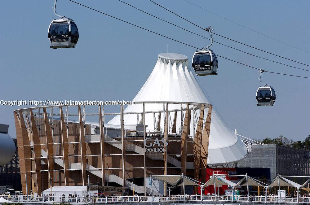 View of cable car at World Expo 2005 at Aichi Nagoya Japan