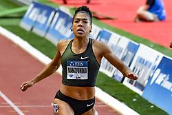 July 20, 2018 - Monaco, France - 100 metres femme - Mujinga Kambundji  (Credit Image: © Panoramic via ZUMA Press)