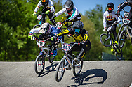 #211 (EVANS Kyle) GBR and #595 (MOLINA Gonzalo) ARG at Round 4 of the 2018 UCI BMX Superscross World Cup in Papendal, The Netherlands