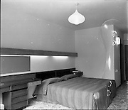 15-16/07/1970<br /> 07/15-16/1970<br /> 15-16 July 1970<br /> View of one of the bedrooms in the Tara Towers Hotel,  Merrion Road, Dublin.