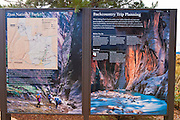 Interpretive signs at the Kolob Canyons Visitor Center, Zion National Park, Utah