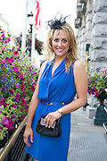 Sinead Francis, Castlegar at the Hotel Meyrick Most Stylish Lady event on ladies day of The Galway Races. Photo:Andrew Downes
