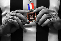 Dane Swan of the Magpies holds his Anzac Medal after the round six AFL match between the Collingwood Magpies and the Essesdon Bombers at Melbourne Cricket Ground on April 25, 2014 in Melbourne, Australia. (Copyright Michael Dodge/Getty Images)