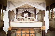 Accomodation at Camp Ya Kanzi, a luxury safari camp in the Chyulu Hills in Kenya