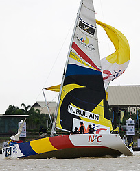 2008 Monsoon Cup. Nurul Ain broaching at the finish (Thursday  5th December 2008). .