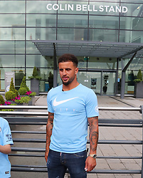Kyle Walker is seen out and about in Manchester