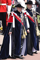 The Earl of Wessex (right), the Duke of York (left) during the annual Order of the Garter Service at St George's Chapel, Windsor Castle.