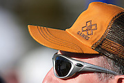 SHOT 1/26/08 2:13:16 PM - A Snowboard X fan takes in the action from the finish area Saturday January 26, 2008 at Winter X Games Twelve in Aspen, Co. at Buttermilk Mountain. The 12th annual winter action sports competition features athletes from across the globe competing for medals and prize money is skiing, snowboarding and snowmobile. Numerous events were broadcast live and seen in more than 120 countries. The event will remain in Aspen, Co. through 2010..(Photo by Marc Piscotty / © 2008)
