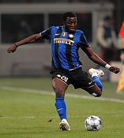 Fotball<br /> Italia<br /> Foto: Inside/Digitalsport<br /> NORWAY ONLY<br /> <br /> Sulley Muntari (Inter) <br /> <br /> 26.11.2008<br /> Champions League 2008/2009<br /> Inter v Panathinaikos