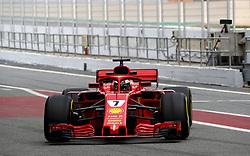 February 26, 2018 - Barcelona, Spain - Motorsports: FIA Formula One World Championship 2018, Test in Barcelona,#7 Kimi Raikkonen (FIN, Scuderia Ferrari) (Credit Image: © Hoch Zwei via ZUMA Wire)