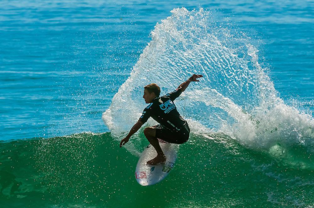 Australian pro surfer Matt Banting competing in the Australian Open of Surfing, Manly Beach, Sydney, New South Wales, Australia