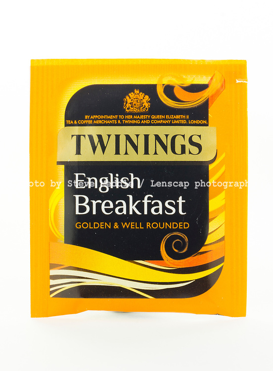 London, England - March 07, 2017: Twinings English Breakfast Tea, Twinings was founded by Thomas Twinings around 1706 in London, England.