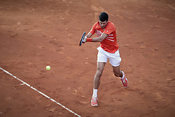 May 12, 2019 - Madrid, Spain - Novak Djokovic from Serbia during the Mutua Madrid Open Masters final match against Stefanos Tsitsipas from Greece on day eight at Caja Magica in Madrid, Spain. Novak Djokovic beat Stefanos Tsitsipas. May 12, 2019. (Credit Image: © A. Ware/NurPhoto via ZUMA Press)