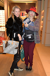 Left to right, IKA GREEN and MARISSA HERMER at a Valentine's Ladies breakfast hosted by Tod's and Carolina Bonfiglio at the Tod's boutique in New Bond Street, London on 10th February 2015.