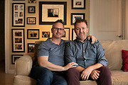 """Marc Koenigsberg and Robb Layne adopted their child through the California foster care system because of its """"unparalleled network of resources and support."""" Salgu Wissmath for The New York Times"""