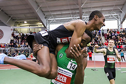 Bruce LeHane Invitational Mile<br /> Yomif Kejelcha, Ethiopia, Nike Oregon Project, breaks world record indoor mile 3:47.01