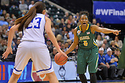 April 4, 2016; Indianapolis, Ind.; Christina Davis calls out a play in the NCAA Division II Women's Basketball National Championship game at Bankers Life Fieldhouse between UAA and Lubbock Christian. The Seawolves lost to the Lady Chaps 78-73.