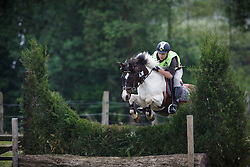 Henrard Jan (BEL) - Yakari <br /> Nationaal Kampioenschap Eventing Pony's <br /> LRV Gavere 2014<br /> © Dirk Caremans