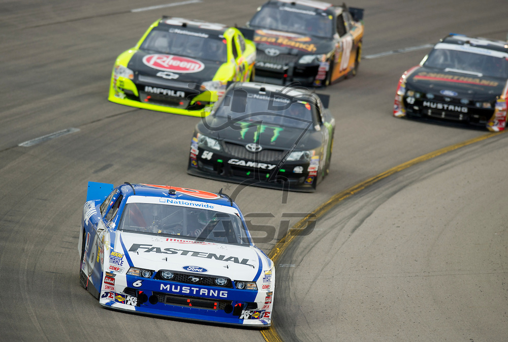 NEWTON, IA - July 04, 2012: Ricky Stenhouse Jr. (6) during the U.S. Cellular 250 race at Iowa Speedway in Newton, IA.