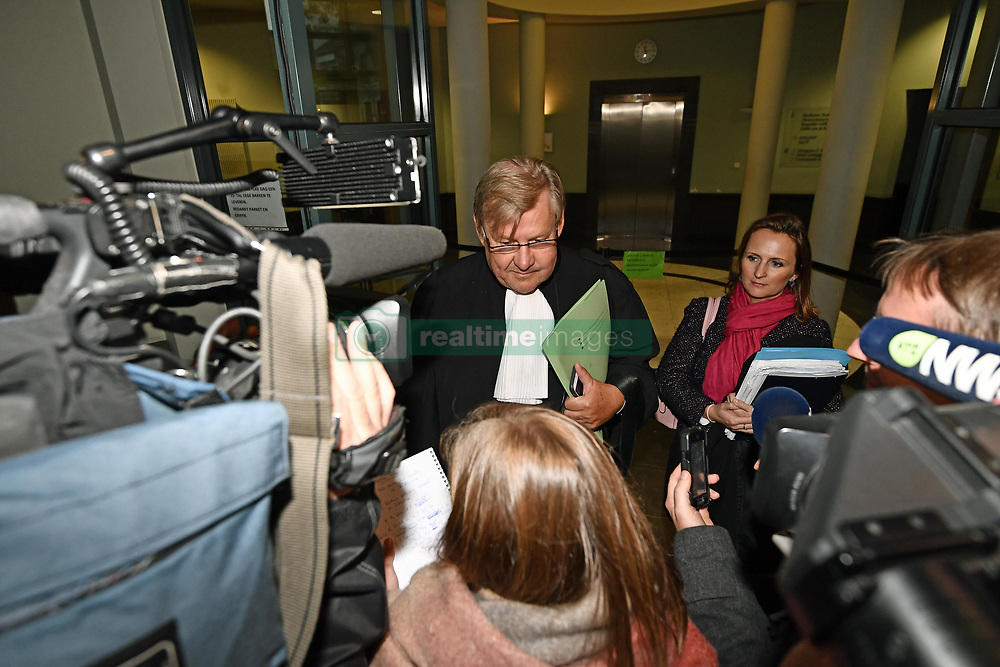 October 26, 2018 - Tongeren, BELGIUM - Lawyer Didier De Quevy pictured at a session at the Antwerp Court with the appearance of eight suspects in the football fraud case, Friday 26 October 2018. Several suspects in a large investigation into tax evasion, money laundering and possible match fixing in Belgian first division soccer competition were arrested in 'Operatie Propere Handen' (Operation Clean Hands)...BELGA PHOTO DIRK WAEM (Credit Image: © Dirk Waem/Belga via ZUMA Press)
