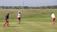 AMELAND - Green hole 7 met vuurtoren op de achtergrond. Amelandse Golfbaan 'De Amelander Duinen' . COPYRIGHT KOEN SUYK